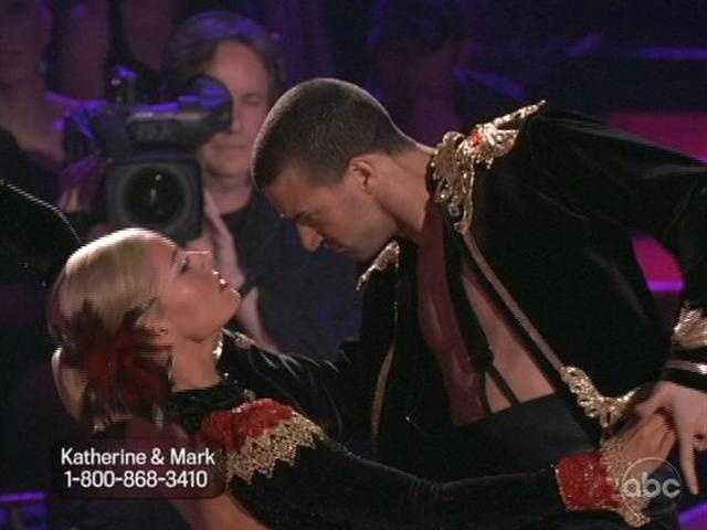 Len Goodman worked with Katherine and partner Mark Ballas on their Paso Doble.
