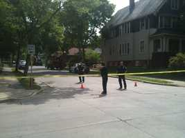 The remains were found near the intersection of 40th Street and Garfield Avenue.