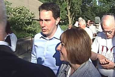 Gov. Scott Walker and his wife Tonette voted in Wauwatosa early Tuesday morning.