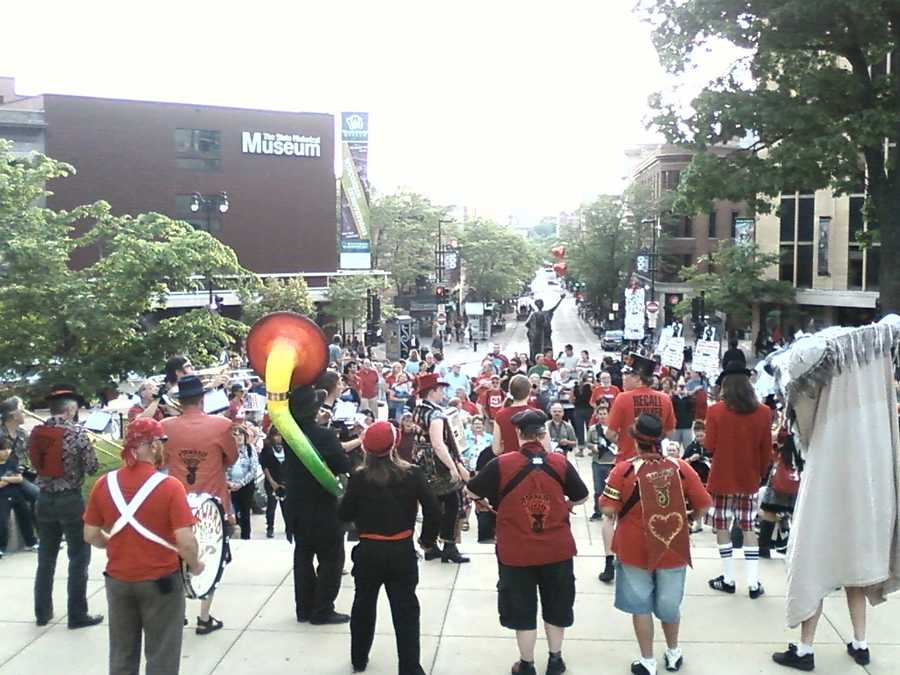 Rally on State Street in Madison