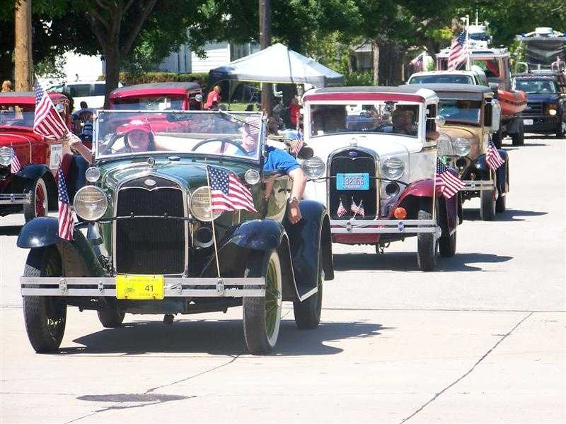 The parade was started by the local Elks Club in 1949, the year Congress and President Truman declared June 14 as National Flag Day.