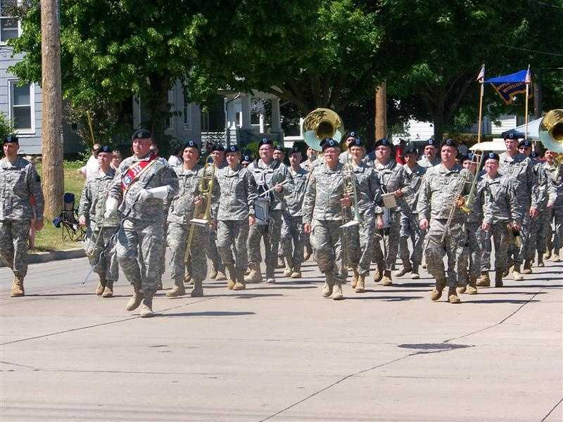 The 484th U.S. Army Band of Milwaukee performed in this year's parade.