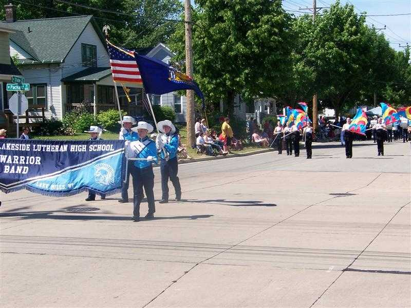 More than 100 units from across Wisconsin participate in the parade.
