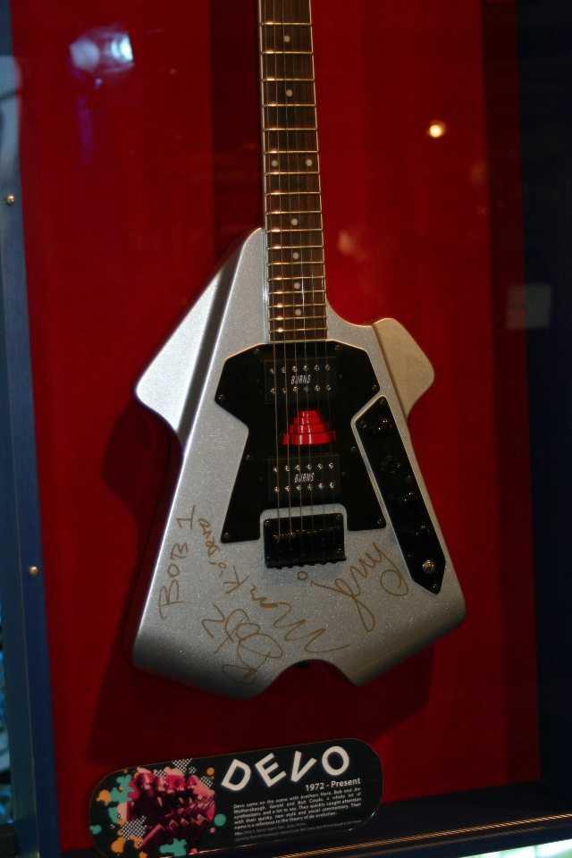 Devo signed guitar