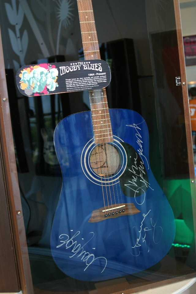 The Moody Blues signed guitar