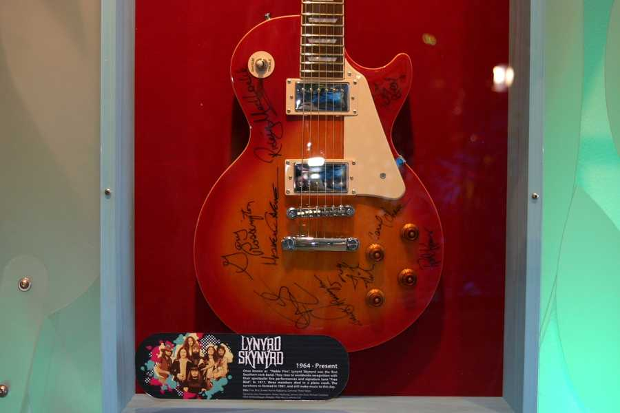 Lynyrd Skynyrd signed guitar