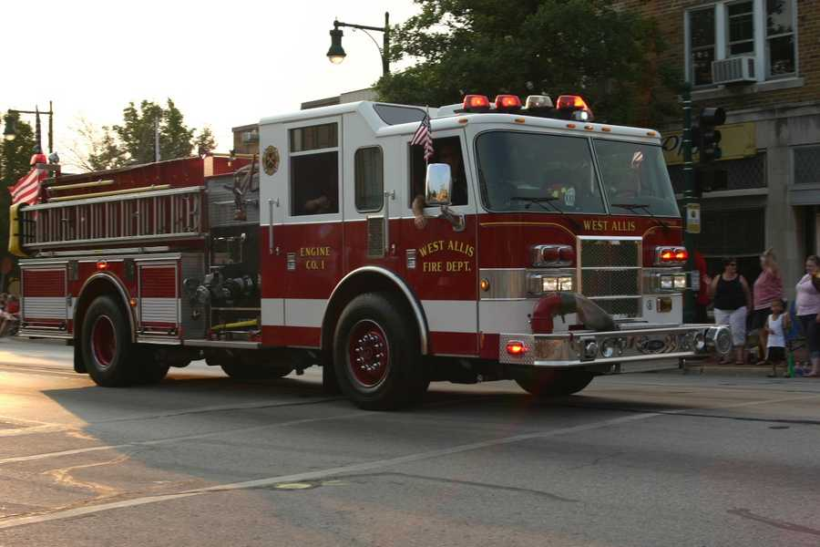 The West Allis Fire Department was among the first elements of the parade.
