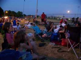 The village of Menominee Falls held their Independence Day fireworks on July 3, 2012 at the high school.