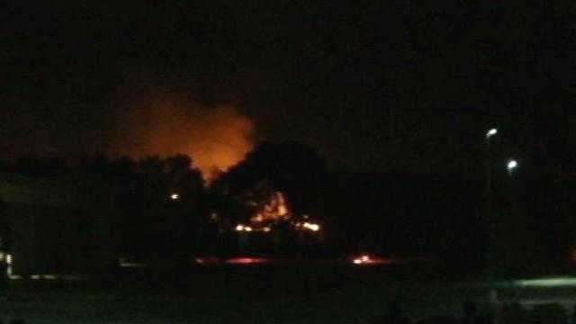 The Independence Day fireworks shows in Oak Creek and Waukesha ended early after embers ignited a pair of grass fires.