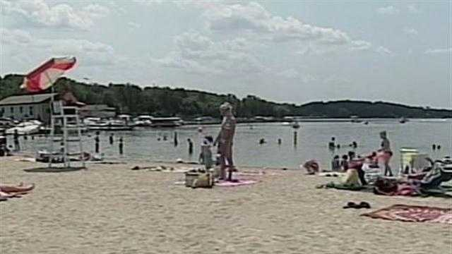 Southern Wisconsin's drought has not only lowered the water levels, it has also reduced the number of people on the beach.
