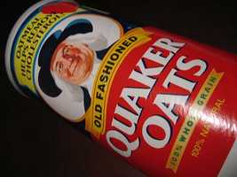 That guy on the Quaker Oats label has a name. It's Larry.