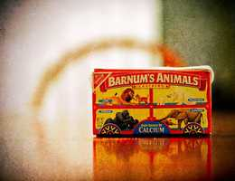 Ever wonder why the box had a string? Boxes of Animal Crackers were originally designed to hang from Christmas trees.