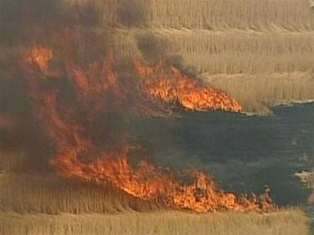 Firefighters from the towns of Richfield and Jackson responded to a dry field on fire on Pleasant Hill Road in the Town of Richfield.