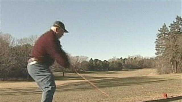 golfer at Milwaukee County course