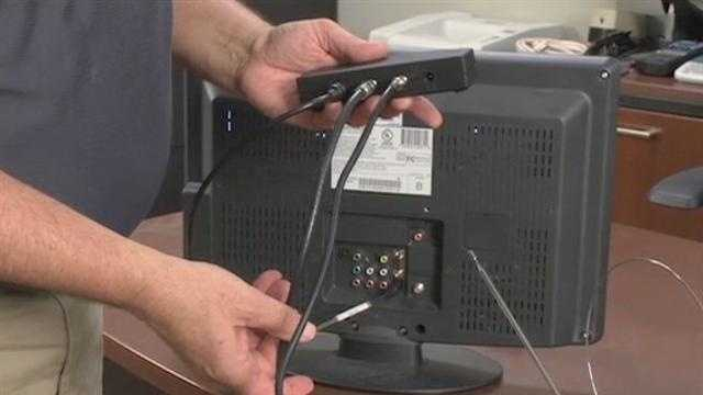 "You'll then take the short piece of coax cable coming out of the ""To TV"" connector on the A-B switch and plug it into the antenna connection in the back of your TV set."