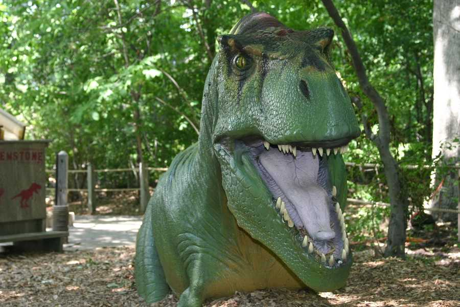 More than 20 dinosaur models are included in this exhibit at the Milwaukee County Zoo.