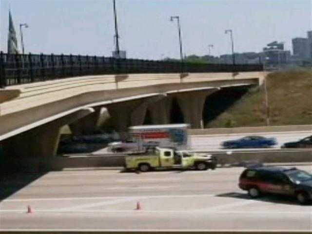 A Milwaukee County Sheriff's Deputy in a highway vehicle was involved in an accident on Interstate 43 south near the Winnebago Street overpass.