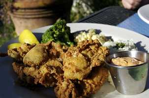 Breaded Deep Fried Oysters at Joy's Seafood