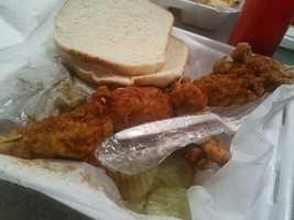 Firecracker chicken (mesquite jalapeno cornbread batter-fried chicken) at Machine Shed Restaurant
