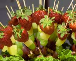 Fruit kabob (with or without chocolate) at Leadfoot's Bar & Grill