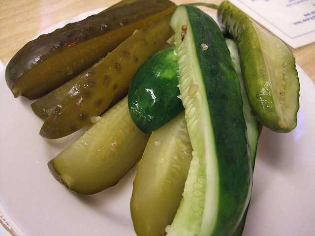 Giant pickle at Madison Sportservice