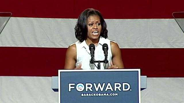 First Lady Michelle Obama visits New Hampshire.