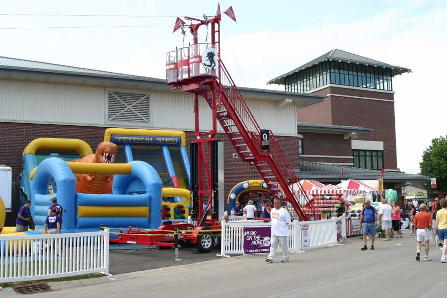 A $20 wrist band gets you unlimited zip line rides in addition to unlimited use of the other inflatables.