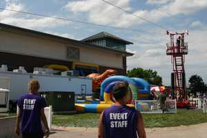 Debuting at IndyFest the zip line has appeared at Germanfest and events in Oshkosh and Michigan.  Click here to see 12 News contributor Kidd O'Shea's zip line experience.