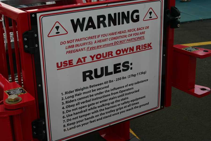 Before stepping off make sure you read the rules and safety warnings.
