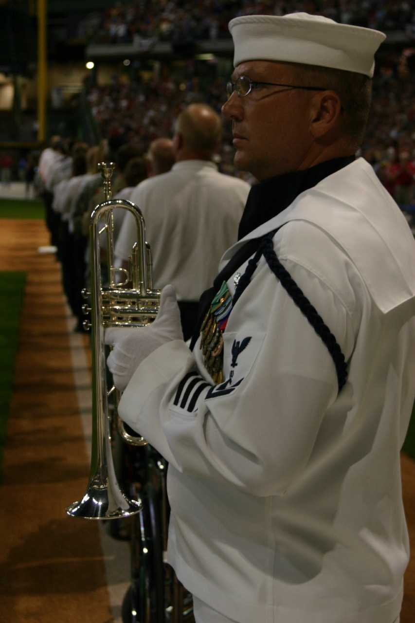 Taps, our national bugle call, was played at the conclusion of the movie.