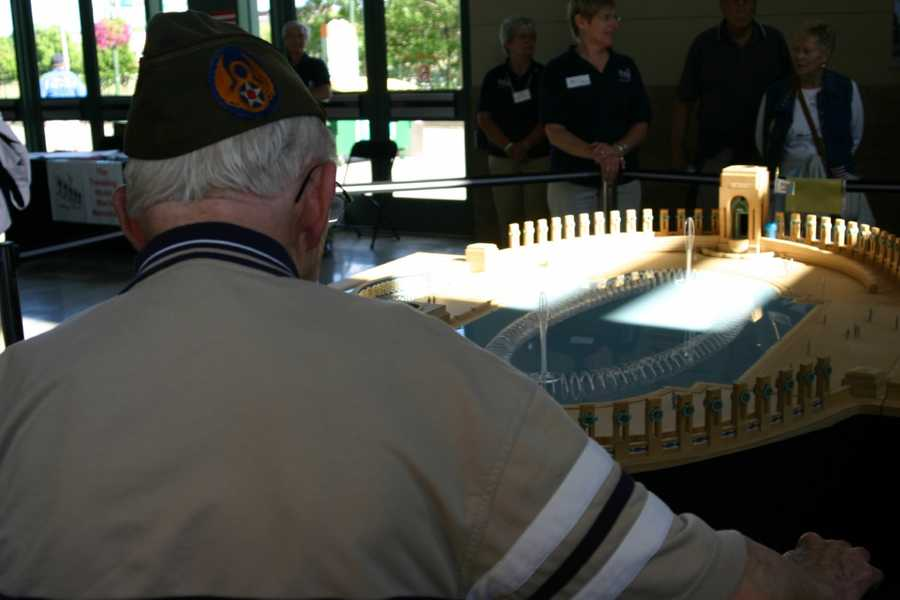 This traveling memorial is one way for vets who can not make it to Washington D.C. to be able to see a replica of the memorial built in their honor.
