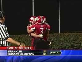 Sussex Hamilton win it 31-21