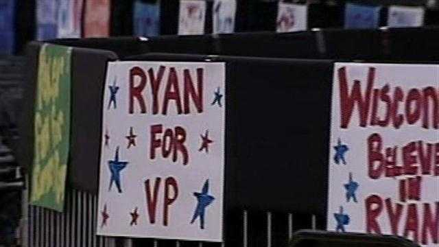 Janesville Craig high school will be the scene for Paul Ryan's send-off as he heads to the Republican National Convention in Tampa, Fla.