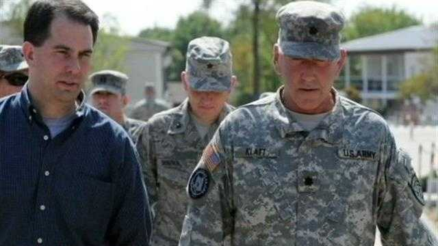 Governor traveled to Kosovo to visit Wisconsin Army National Guard Soldiers.