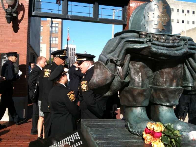 The Milwaukee Fire Department also held a remembrance ceremony outside their headquarters.