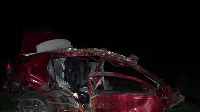 The Ozaukee County Sheriff's Department released photos of an early morning crash that killed two passengers and injured the driver.
