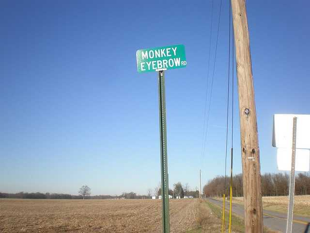 Or you could visit Monkey's Eyebrow, Kentucky.