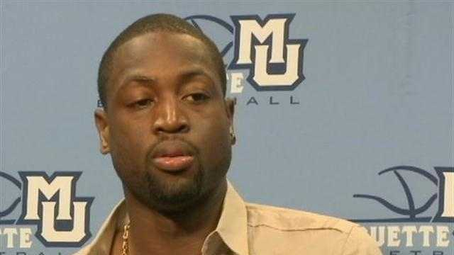 NBA star and former Marquette University standout Dwayne Wade came to Marquette this week to sign copies of his new book