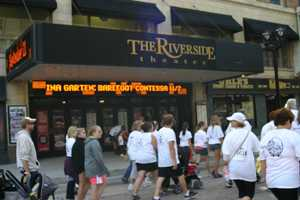 The Riverside Theater was on the route.