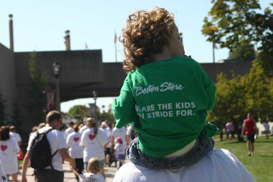 """We are the kids you stride for""... all proceeds benefit Children's Hospital of Wisconsin."