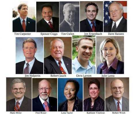 Feb. 18, 2011 - 14 Democratic State Senators fled the state in order to delay a vote on the bill. With only 19 GOP members, the Senate would not have quorum to vote on the fiscal bill.