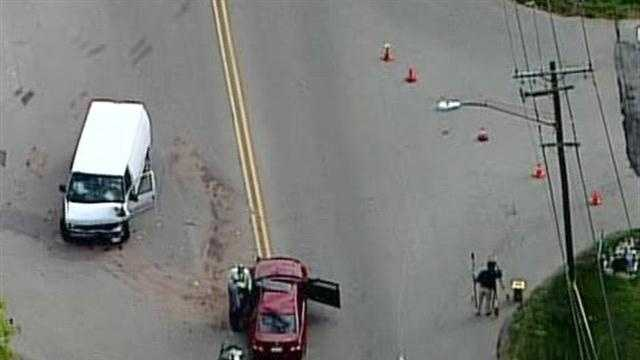 A crash between a car and a van killed at least one person at the intersection of Green Bay Road and Hemlock Road in Glendale.