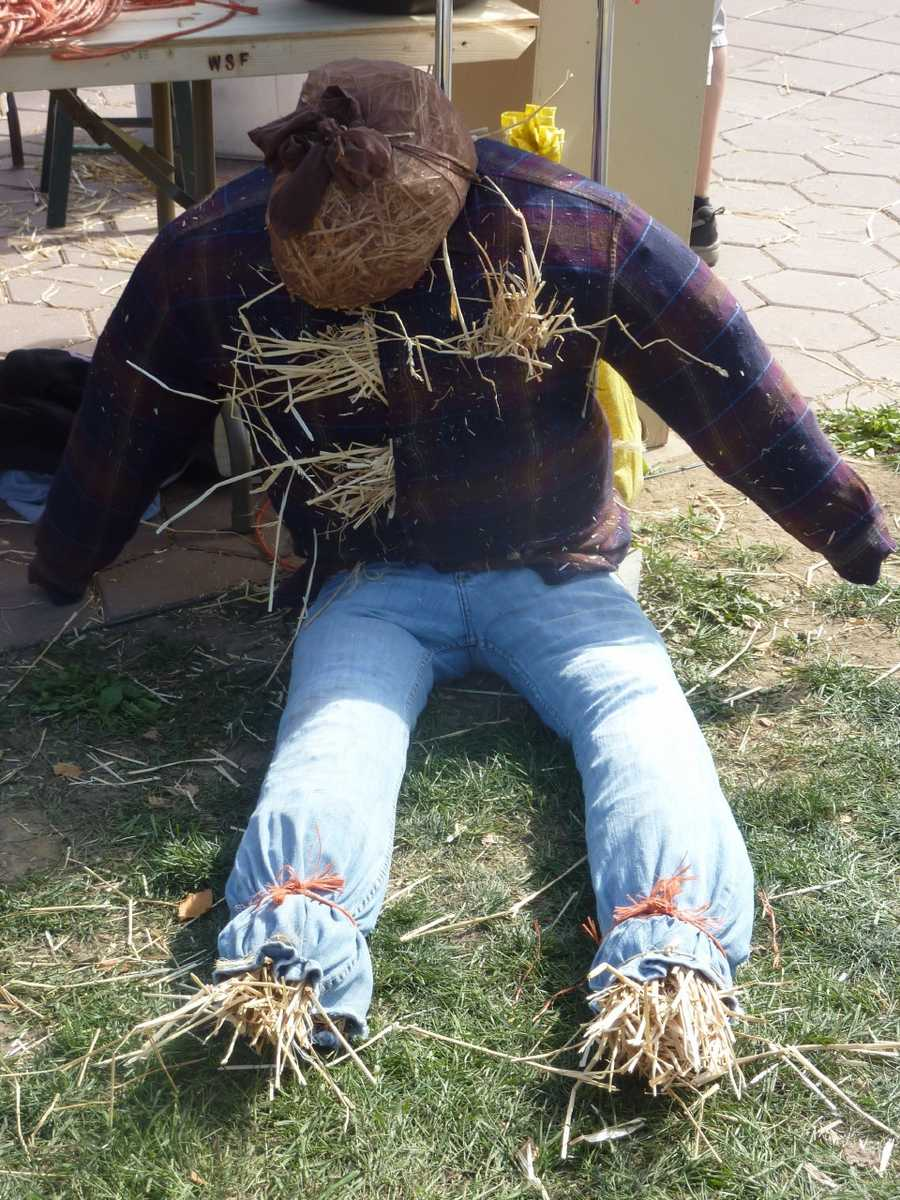 Make your own scarecrows is another activity on the Central Mall.