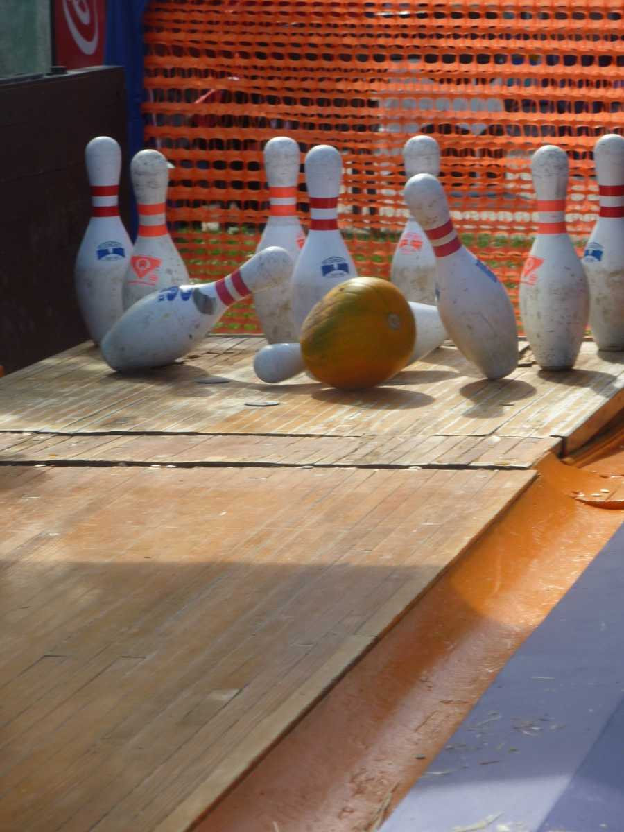 Pumpkin bowling, anyone?