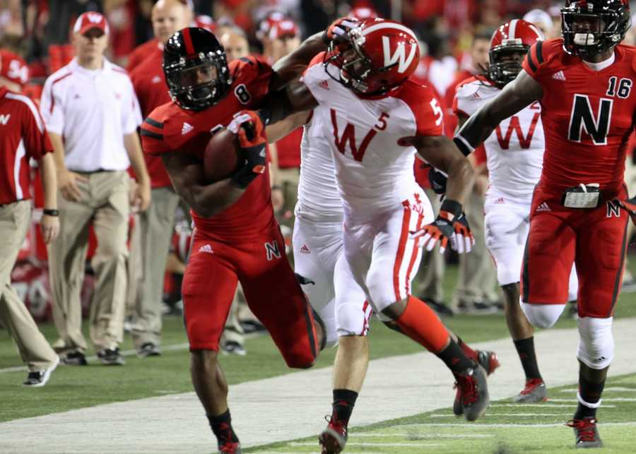 Ameer Abdullah returned a Wisconsin kickoff for 83 yards in the first quarter.