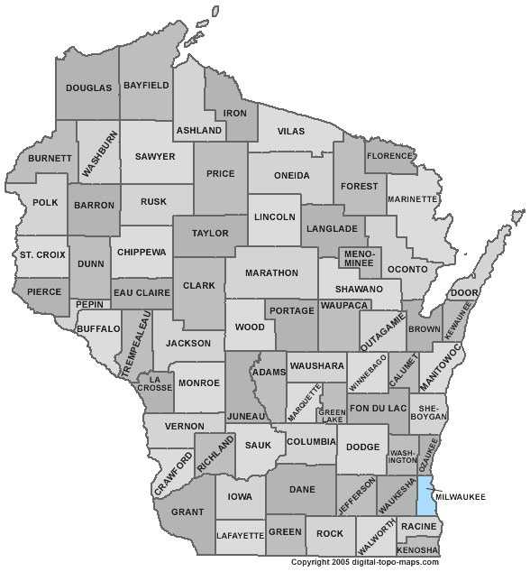 Milwaukee County: 7.4 percent, down from 9.2 percent in August
