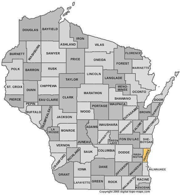 Ozaukee County: 4.7 percent, down from 5.9 percent in August