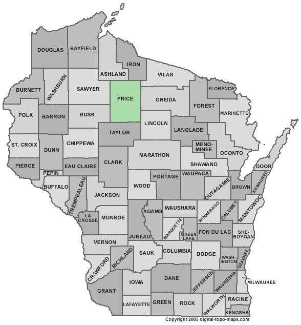 Price County: 5.3 percent, down from 7.0 percent in August