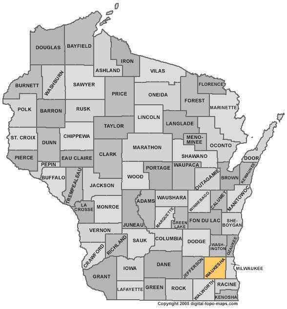 Waukesha County: 4.9 percent, down from 6.3 percent in August