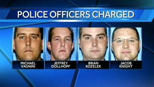 four MPD officers charged